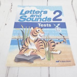 Abeka Letters & Sounds 2 Tests package sealed